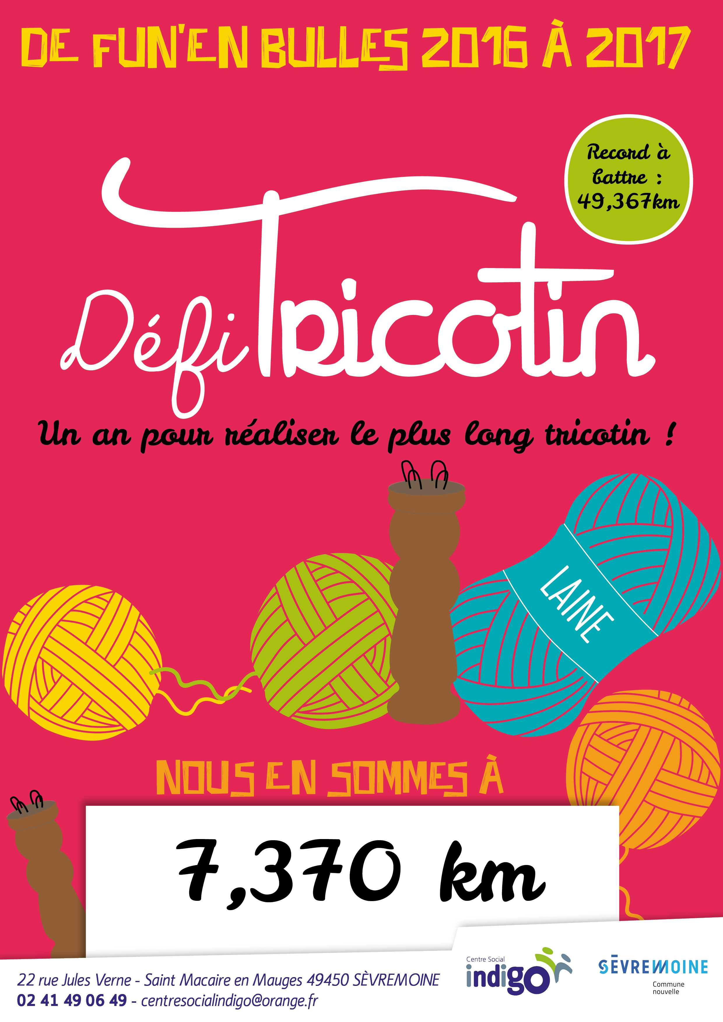 defi tricotin rouge